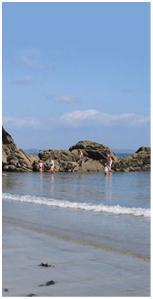 Cornwall Yurts Beach Scene
